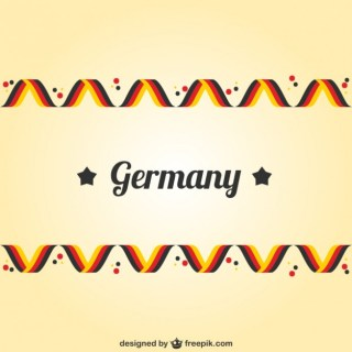 Germany Flag Colors Free Vector