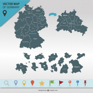 Germany Map Free Vector