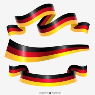 Germany Ribbon Flag Free Vector