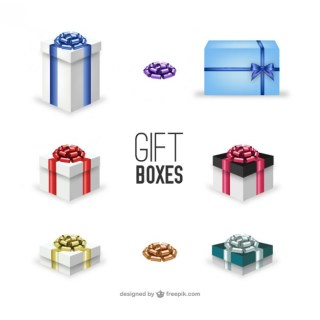 Gift Boxes Illustrations Free Vector