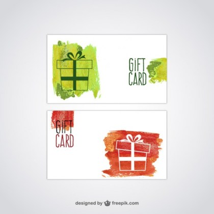 Gift Card Free Vector