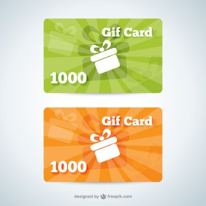 Gift Card Templates Free Vector
