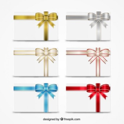 Gift Cards Collection Free Vector