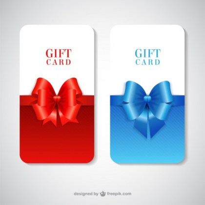 Gift Cards Pack Free Vector