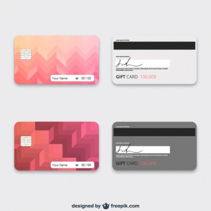Gift Cards Template Free Vector