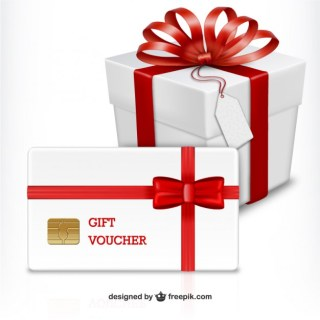 Gift Voucher for Black Friday Free Vector