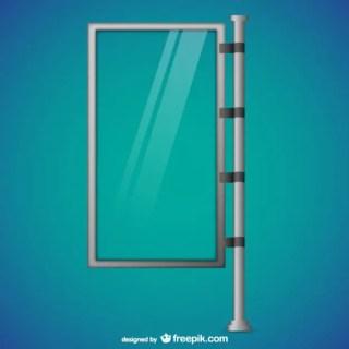 Glass Billboard Free Vector