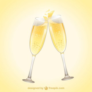 Glasses of Champagne Free Vector
