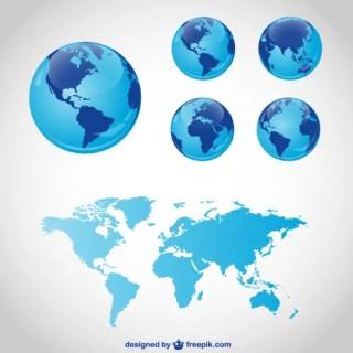 Globe Travel Graphics Free Vector