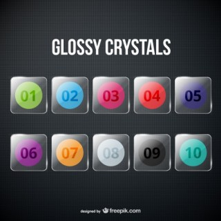Glossy Crystals Pack Free Vector