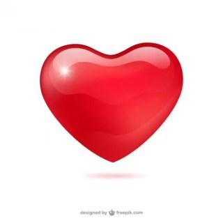 Glossy Heart Free Vector