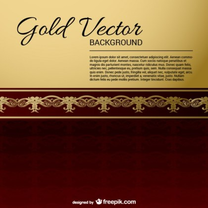Gold-Black Vintage Backgrounds Free Vector