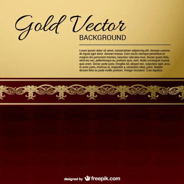 Gold-Black Vintage Backgrounds Free Vector