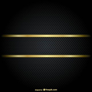 Gold Border on a Black Background Free Vector