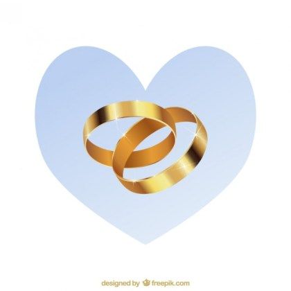 Gold Wedding Rings Pack Free Vector