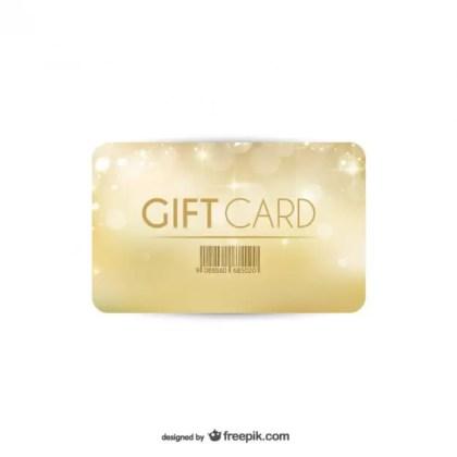 Golden Gift Card Free Vector