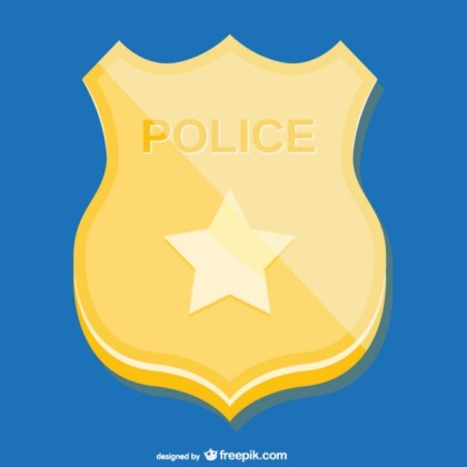 Golden Police Badge Free Vector