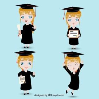Graduate Girl Free Vector