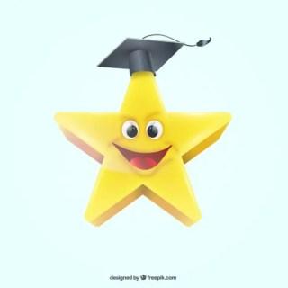 Graduation Star Free Vector