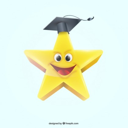 Graduation Star Free Vector