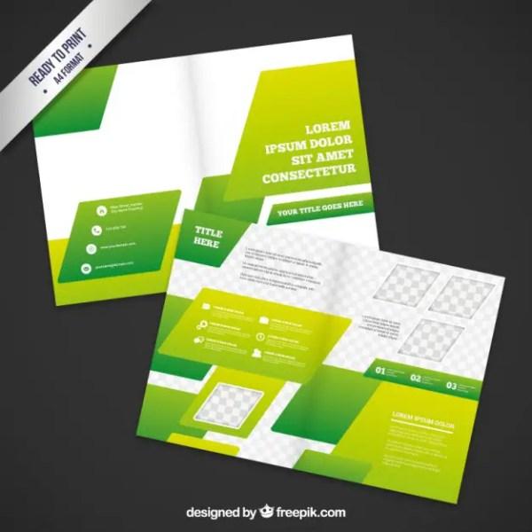 Green Brochure Design Free Vector
