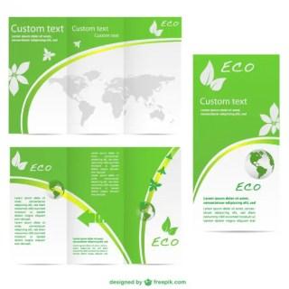 Green Brochure Template Free Vector