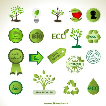 Green Element Material Free Vector