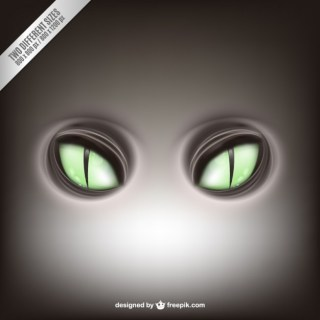 Green Feline Eyes Free Vector