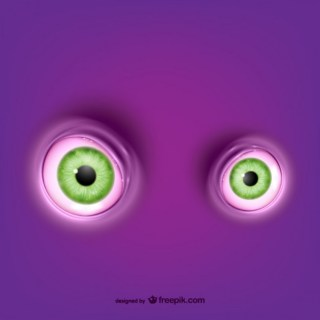 Green Round Eyes Free Vector