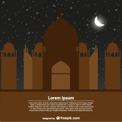 Greeting Card Template for Ramadan Kareem Free Vector