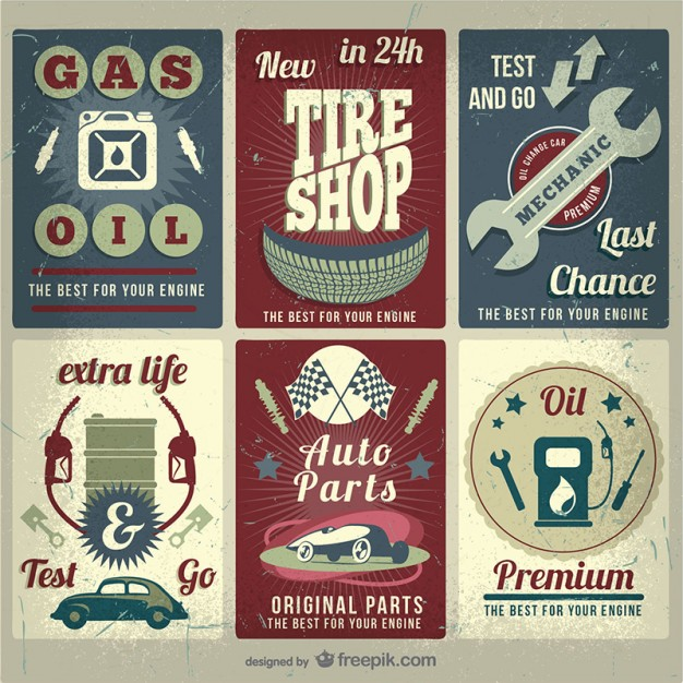 Grunge Car Service Free Vector