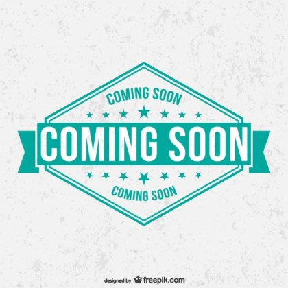 Grunge Coming Soon Label Free Vector