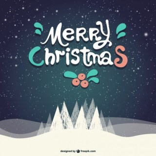 Grunge Merry Christmas Card Free Vector