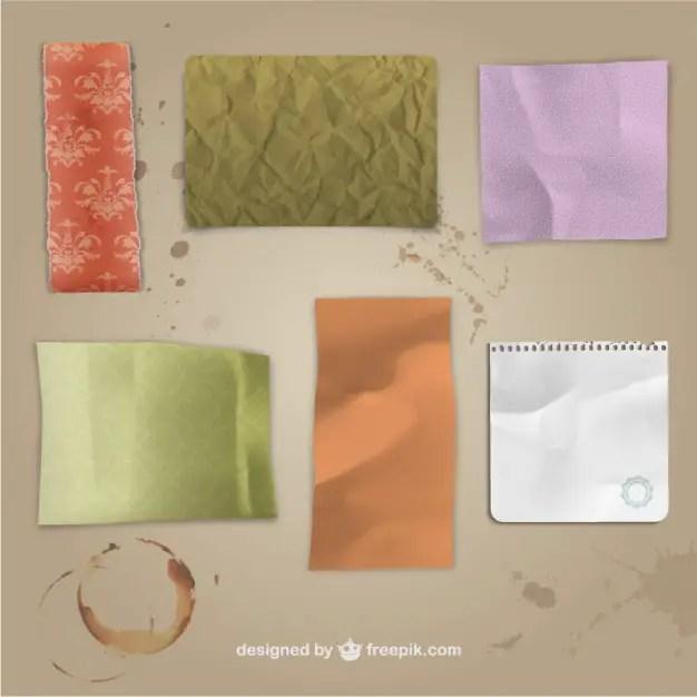 Grunge Paper Textures Free Vector