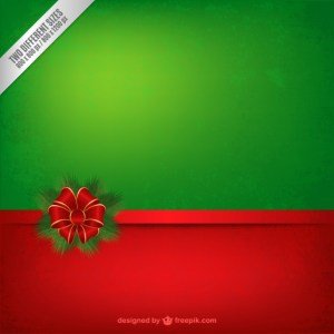 Grunge Red and Green Christmas Background Free Vector