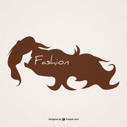 Hairstyle Emblem Free Vector