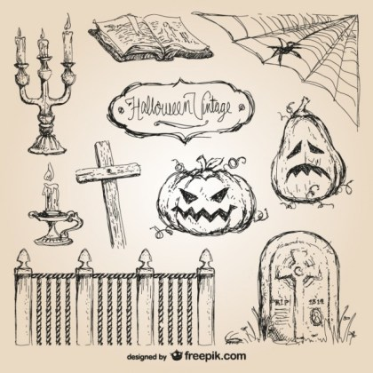 Halloween Hand Drawn Free Vector