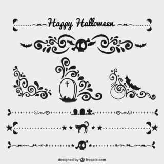 Halloween Ornaments Free Vector
