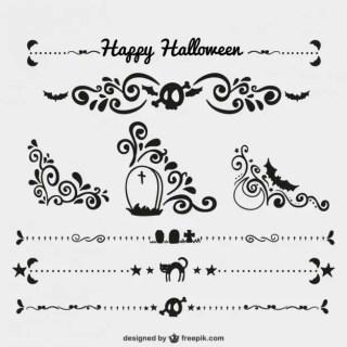 Halloween Ornaments Free Vector