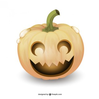 Halloween Pumpkin Cartoon Free Vector