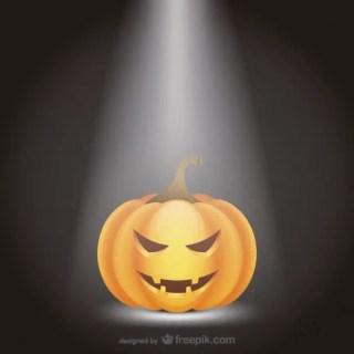 Halloween Pumpkin with Spotlight Free Vector