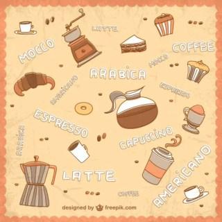Hand Drawn Coffee Pattern Free Vector