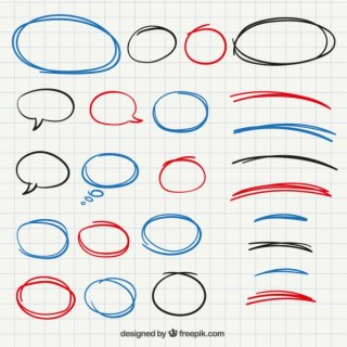 Hand Drawn Frames and Bubbles Collection Free Vector