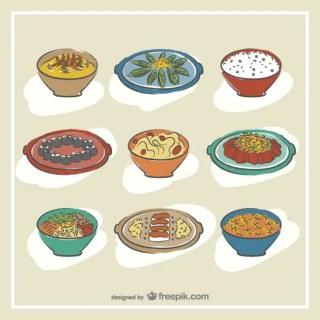 Hand Drawn Korean Food Free Vector