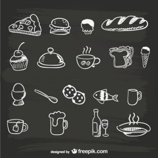 Hand-Drawn Menu Food Graphics Free Vector