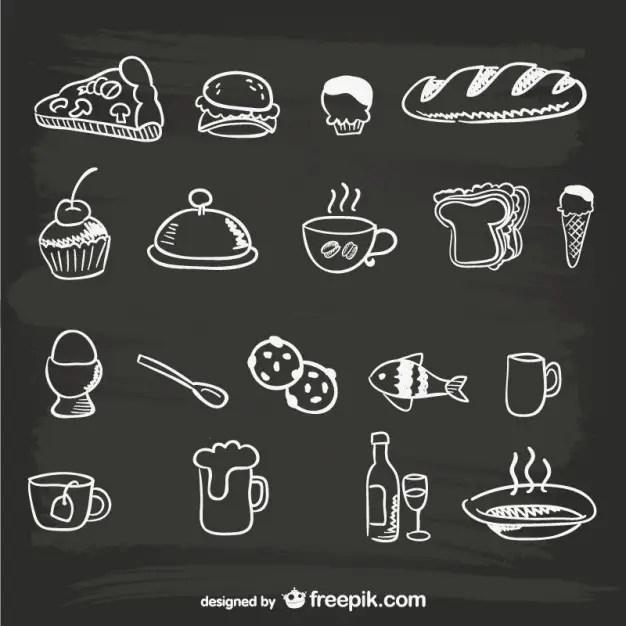 Hand-Drawn Menu Food Graphics Free Vector