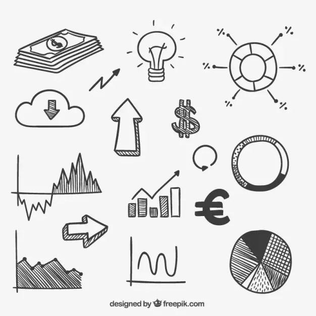 Hand Drawn Money Infographic Free Vector