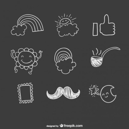 Hand Drawn Pack Free Vector