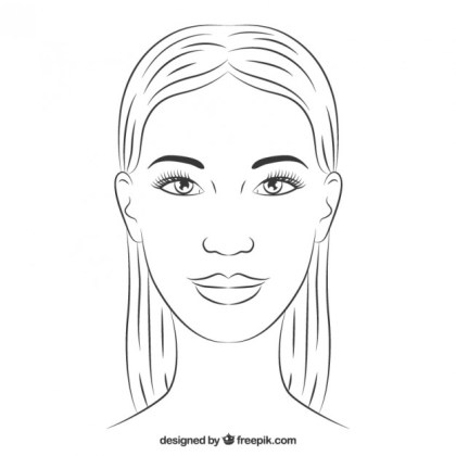 Hand Drawn Woman Face Free Vector