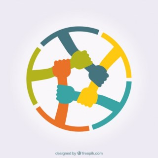 Hands Connecting Free Vector